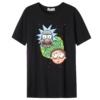 Kép 1/2 - RICK & MORTY - pixel fejek   grafikás férfi póló