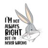 Kép 2/3 - I'm never wrong | grafikás Looney Tunes férfi póló