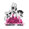 Kép 2/3 - POWER PUFF GIRLS - POWERPUFF WORLD | grafikás női pamutpóló