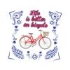 Kép 1/4 - Life is better | bicikli mintás kislány póló