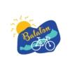 Kép 2/4 - Kék Balaton | bicikli mintás férfi póló