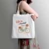 Kép 3/3 - Life is beautiful | bicikli mintás vászontáska