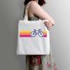 Kép 2/3 - SzÍnes bicikli | bicikli mintás vászontáska