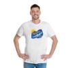 Kép 1/4 - Kék Balaton | bicikli mintás férfi póló