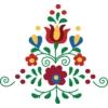 Kép 2/4 - Matyó viragos kompozíció   grafikás női pamutpóló