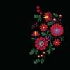 Kép 3/8 - Matyó virágok | grafikás női pamutpóló