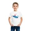 Kép 1/4 - Balatoni piros hajó | grafikás fiú pamutpóló