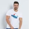 Kép 1/4 - Balatoni piros hajó | grafikás férfi póló