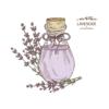 Kép 3/4 - Levendula fiola   grafikás női pamutpóló