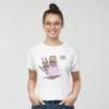 Kép 2/4 - Levendula fiola   grafikás női pamutpóló