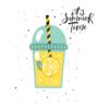 Kép 2/4 - Limonádé - summer time   grafikás lány pamutpóló