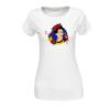 Kép 2/4 - Papagájos Frida | grafikás női pamutpóló