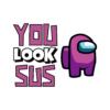 Kép 2/3 - YOU LOOK SUS | mintás Among us lány póló