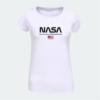 Kép 2/4 - NASA & USA | grafikás női pamutpóló