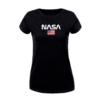 Kép 2/4 - NASA & USA flag | grafikás női pamutpóló