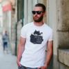 Kép 2/4 - Gyilkos kíváncsiság   grafikás férfi pamutpóló