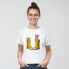 Kép 1/4 - Kiscicák sárga gumicsizmában   női pamutpóló