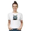 Kép 1/4 - Van Gogh macska   grafikás női pamutpóló