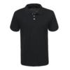 Kép 1/2 - Férfi galléros pamut póló | fekete