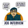 Kép 1/3 - Job interview | grafikás férfi póló