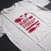 Kép 1/4 - Ruby Fish Co   grafikás férfi pamutpóló