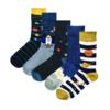 Kép 3/3 - Vidám NASA csikos kék zokni | Férfi VIDAM ZOKNI