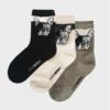 Kép 2/2 - Női vidám Bulldog szürke zokni | Női zokni