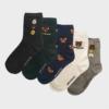 Kép 2/2 - Női sötétszürke nyuszis zokni | Női VIDAM ZOKNI