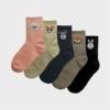 Kép 2/2 - Női fekete nyuszis zokni | Női VIDAM ZOKNI