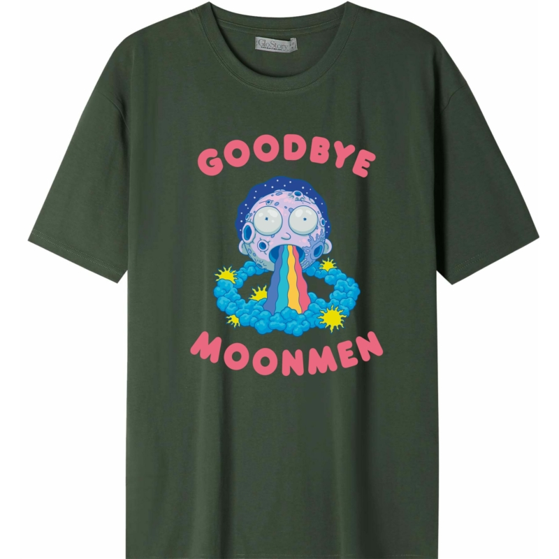 RICK & MORTY - Moonmen   grafikás férfi póló