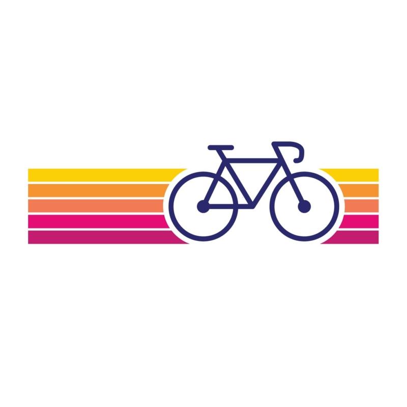 SzÍnes bicikli   bicikli mintás női póló