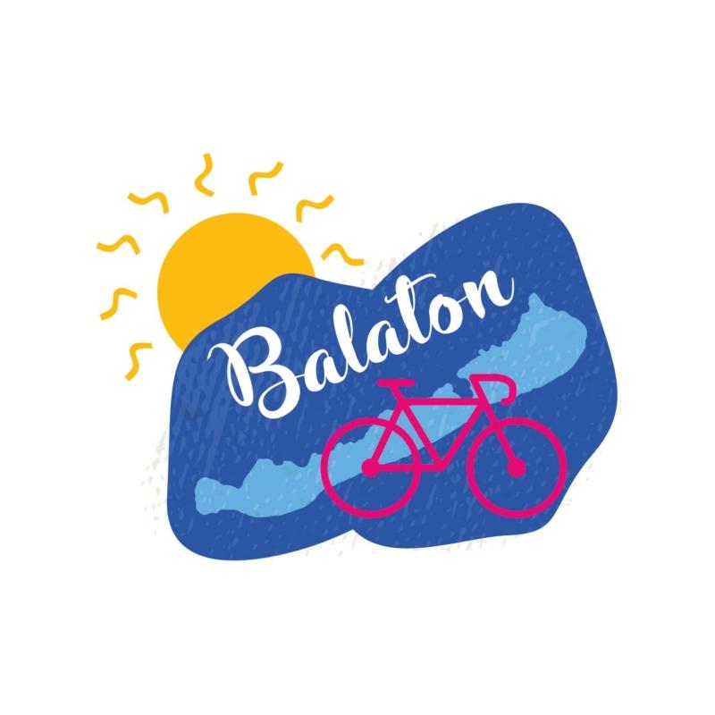 Kék Balaton | bicikli mintás vászontáska