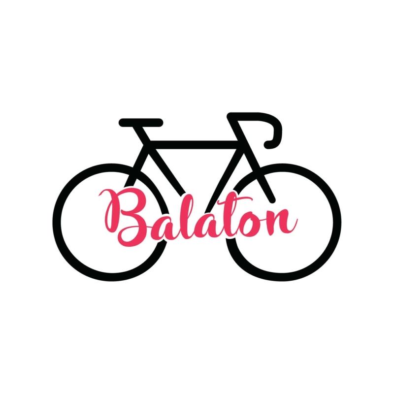Balaton | bicikli mintás női póló