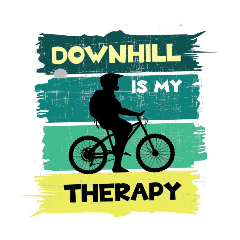 Downhill   bicikli mintás férfi póló