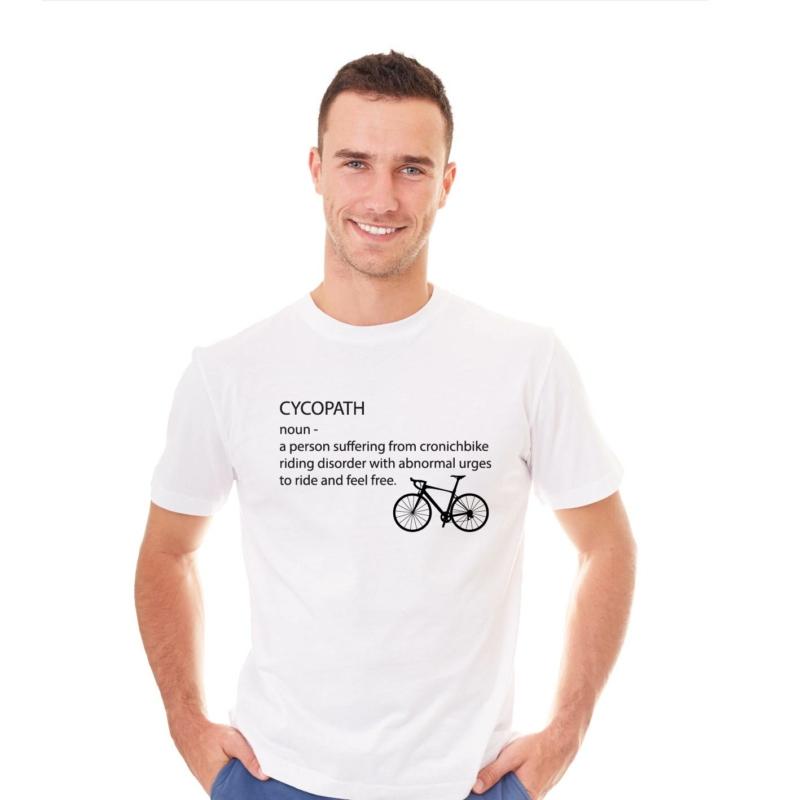 CYCOPATH   bicikli mintás férfi póló