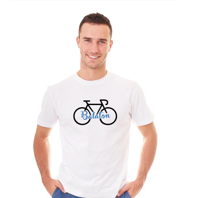 Balaton   bicikli mintás férfi póló