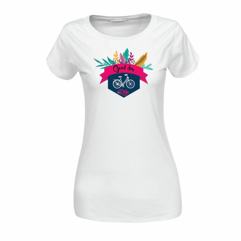 Good day  | bicikli mintás női póló