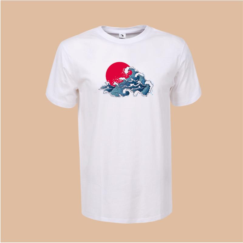 Japán hullámok | grafikás férfi póló