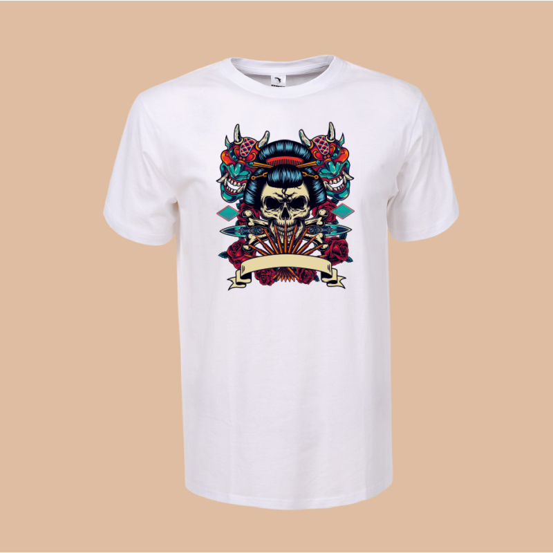 Szamuráj koponya | grafikás férfi póló