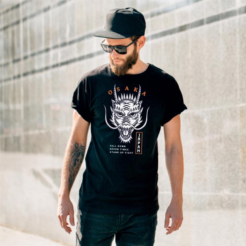Osaka sárkány | grafikás férfi póló