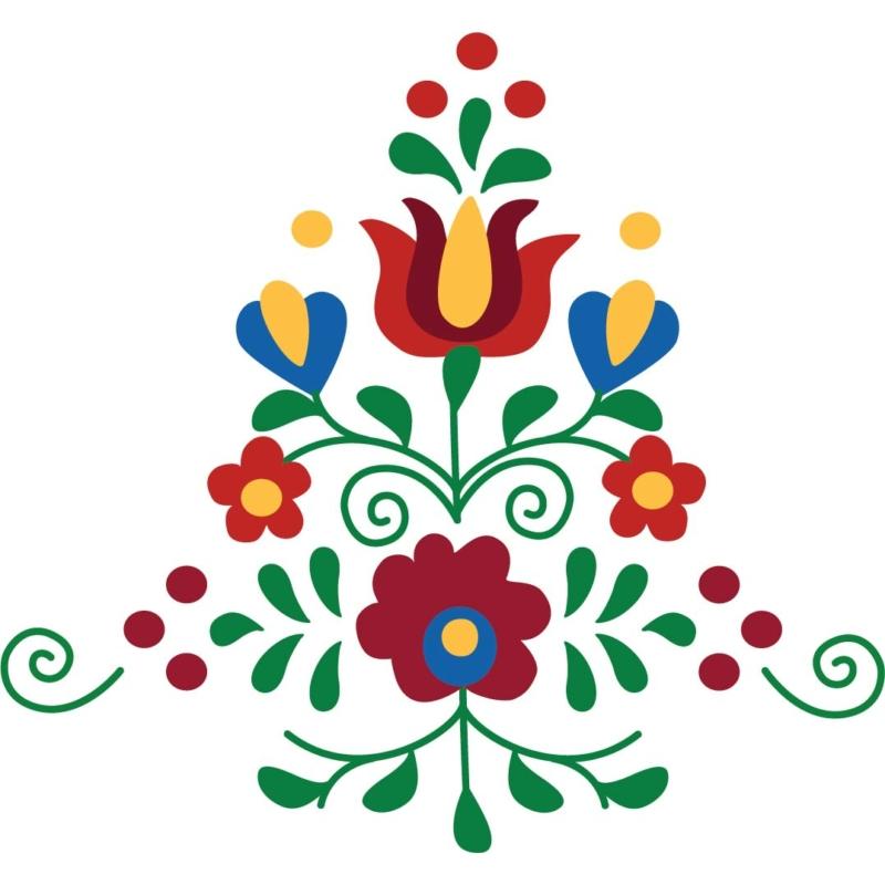 Matyó viragos kompozíció   grafikás női pamutpóló