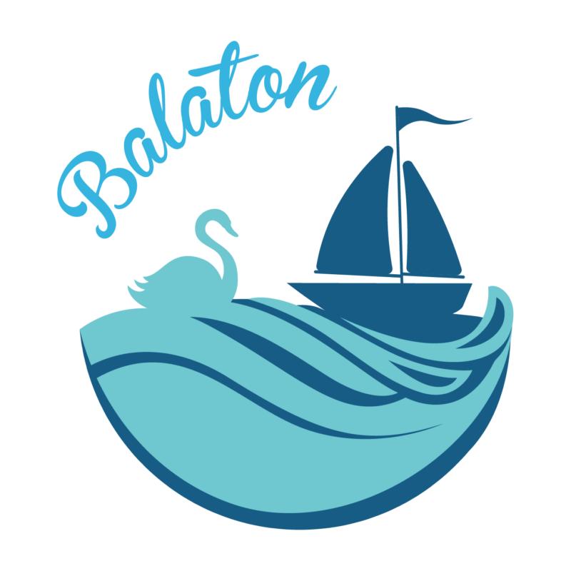Balaton hattyús   grafikás férfi póló