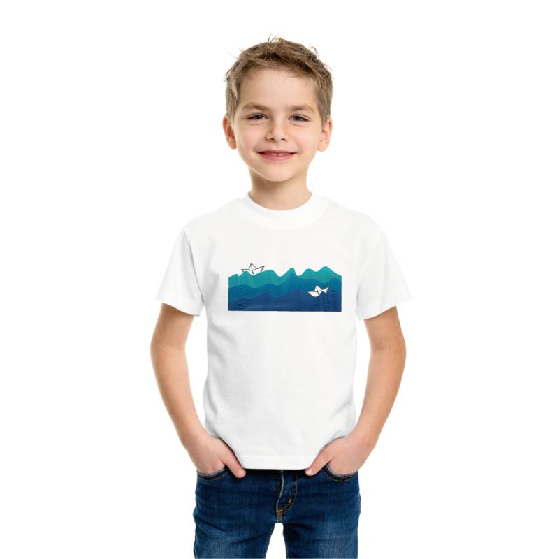 Papírcsónak Balaton   grafikás fiú pamutpóló