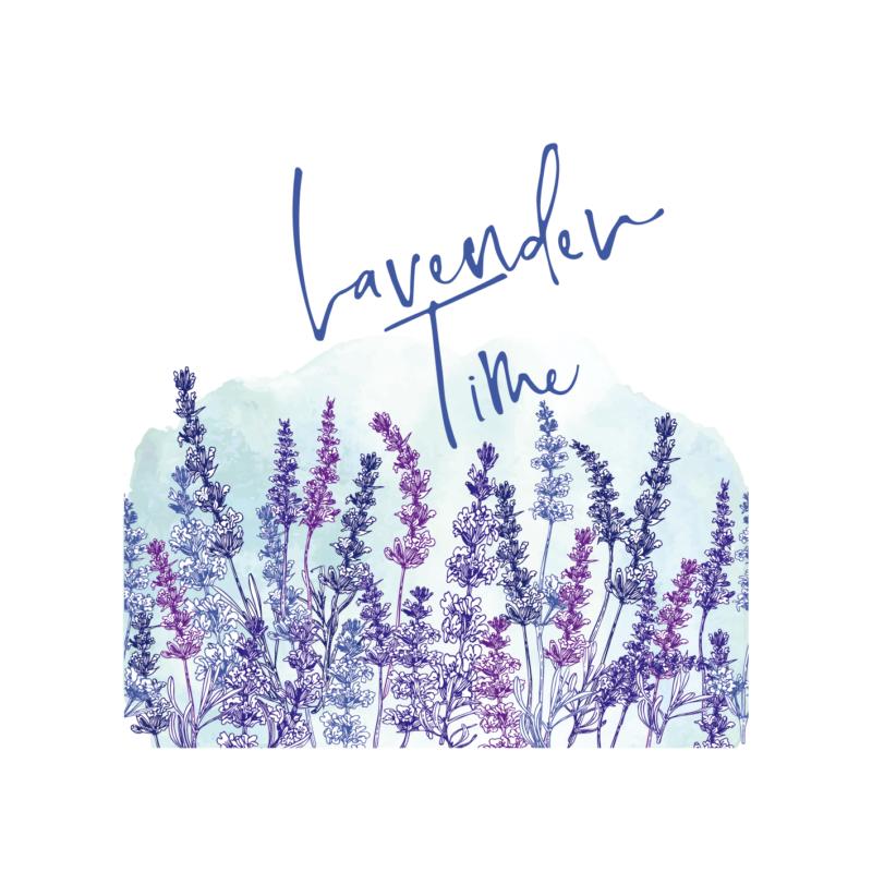 Levendula time | grafikás női pamutpóló