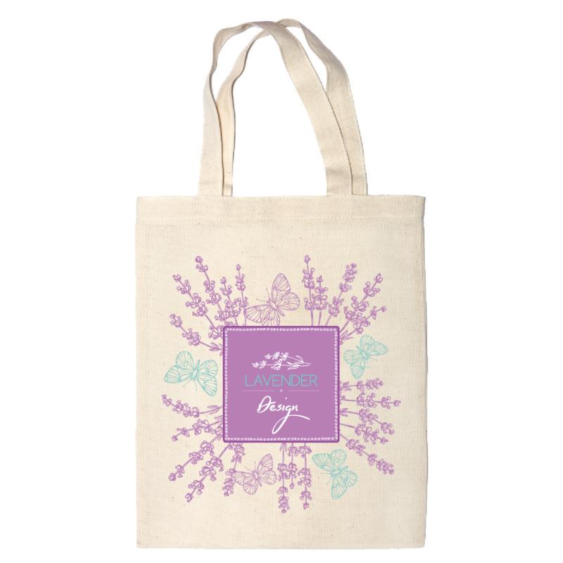 Lavender design   grafikás vászontáska