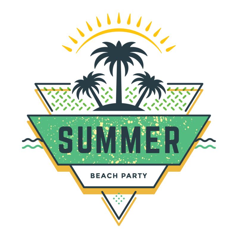 Summer beach party   grafikás férfi póló