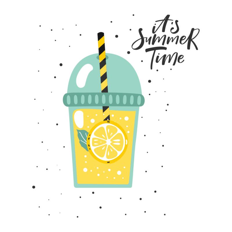 Limonádé - summer time   grafikás lány pamutpóló