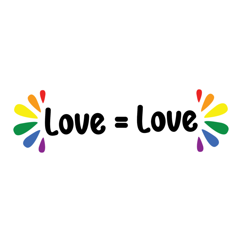 Love equal love | grafikás női pamutpóló