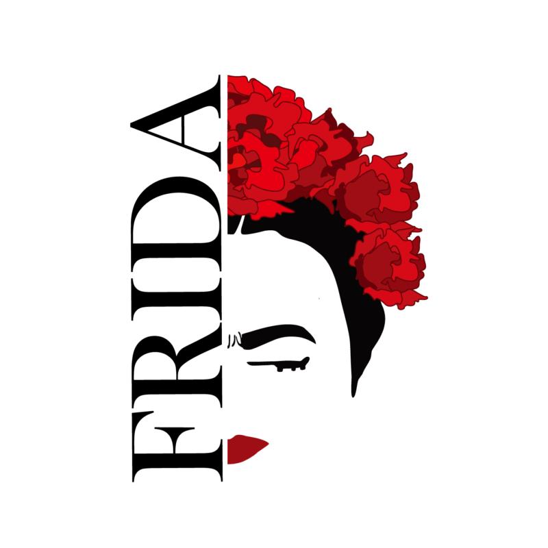 Frida portré | grafikás női pamutpóló