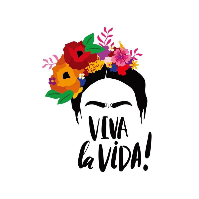 VIVA la VIDA! | grafikás női pamutpóló